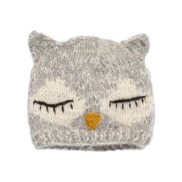Women's San Diego Hat Company Sleeping Owl Ear Beanie KNH3252 - Owl... ($25) ❤ liked on Polyvore featuring accessories, hats and owl