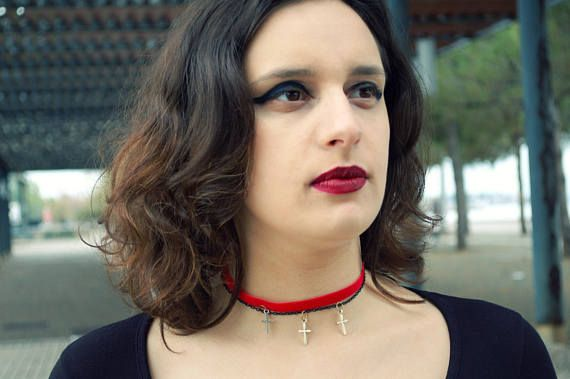 Red Gothic Choker