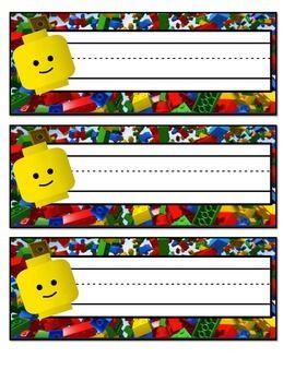 TPT LEGO Name Tags! {FREEBIE}