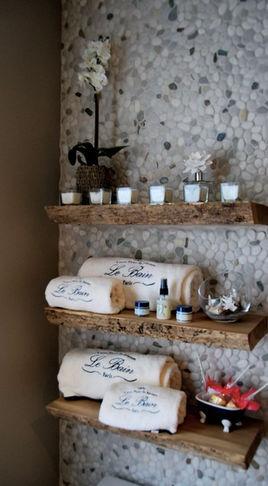 Solid Wood Live edge Slab Shelves - contemporary - wall shelves - toronto - Urban Tree Salvage