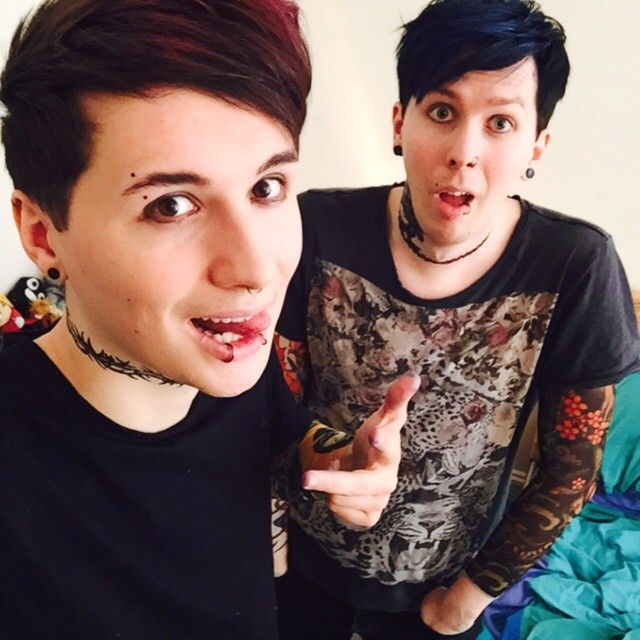 """do you like our new look? check out our new video - Dan and Phil PUNK EDITS IRL https://www.youtube.com/watch?v=NoudTpQSHSE"""
