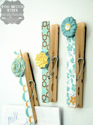 mod podge melts clothespin magnets