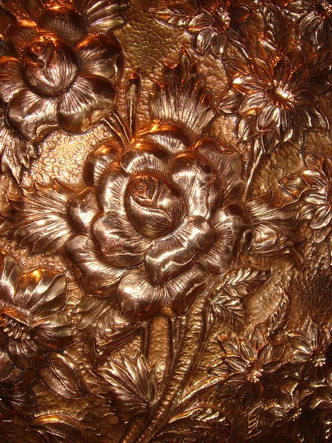 copper artwork from Iran