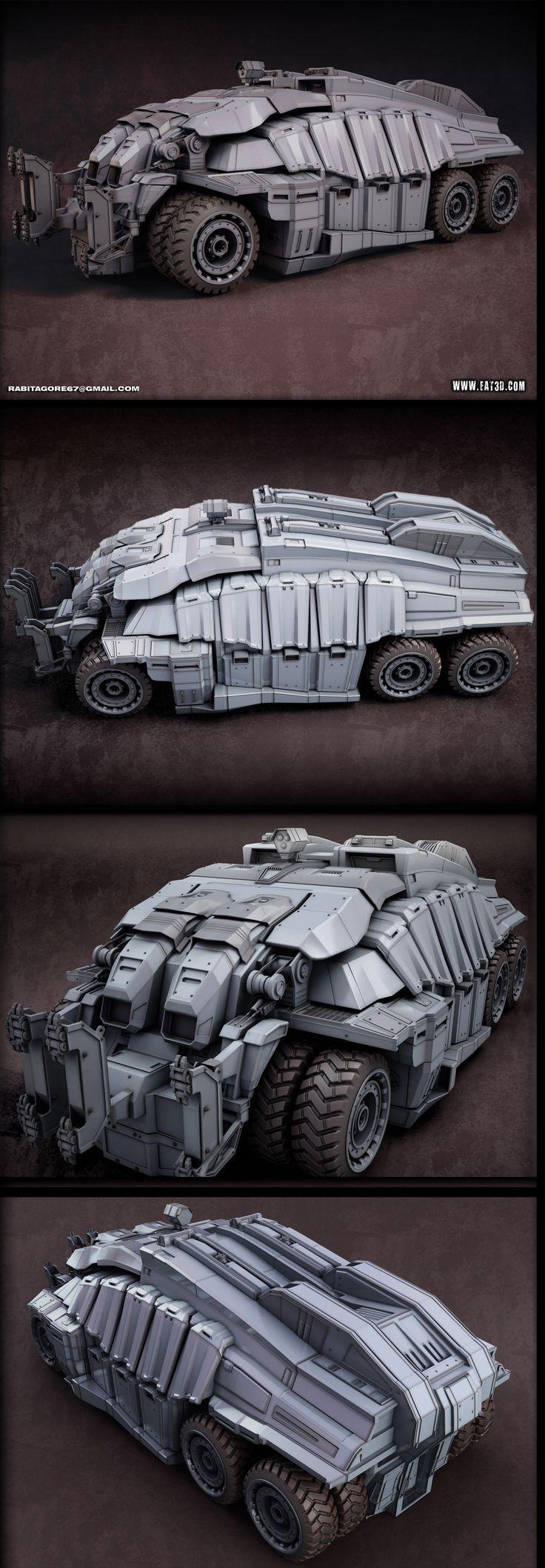 High Poly Vehicle - Rabitagore - Final   Eat 3D