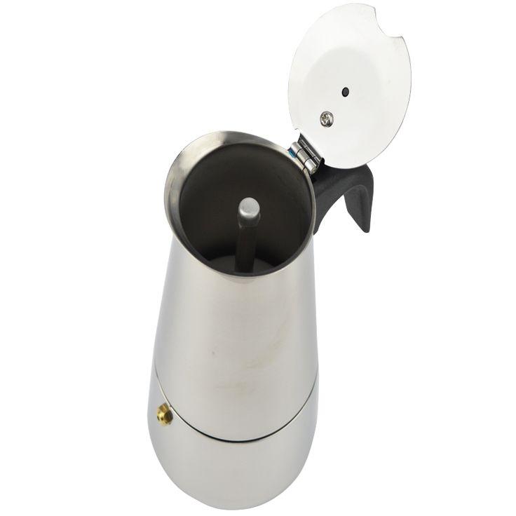 $9.38 (Buy here: https://alitems.com/g/1e8d114494ebda23ff8b16525dc3e8/?i=5&ulp=https%3A%2F%2Fwww.aliexpress.com%2Fitem%2FNew-2-4-6-9-Cups-Stainless-Steel-Coffee-Maker-Latte-Percolator-Moka-Pot-Espresso-Cups%2F32722112785.html ) New 2/4/6/9 Cups Stainless Steel Coffee Maker Latte Percolator Moka Pot Espresso Cups Stove Top Espresso Pot for just $9.38