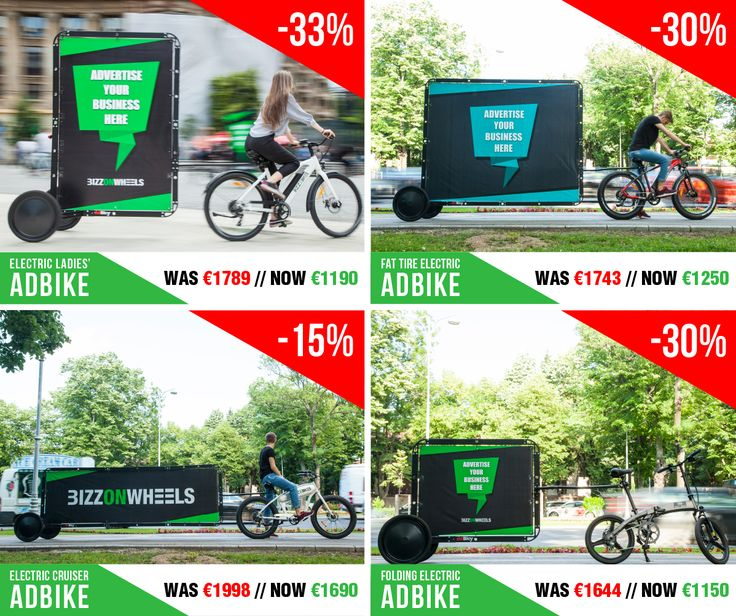 Our Back-to-Business Mega SALE* has started with massive discounts on our electric adbikes 🚲:  ➡️ Electric Ladies' Adbike 33% OFF: http://bit.ly/2xvrDGp ➡️ Fat Tire Electric Adbike 30% OFF: http://bit.ly/2xfgytz ➡️ Electric Cruiser Adbike 15% OFF: http://bit.ly/2w14qxP ➡️ Folding Electric Adbike 30% OFF: http://bit.ly/2xfHJo2  *limited time OFFER