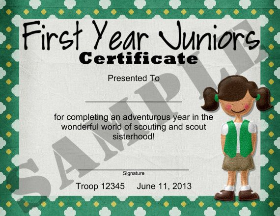 40 best images about Girl scout certificates on Pinterest ...