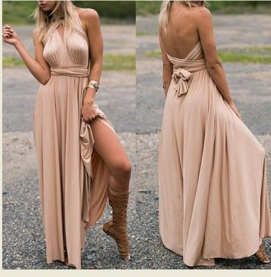 Women's Long Maxi Dress Convertible Wrap Gown Dress Bandage Bridesmaid maternity Dress clothes for pregnants 348