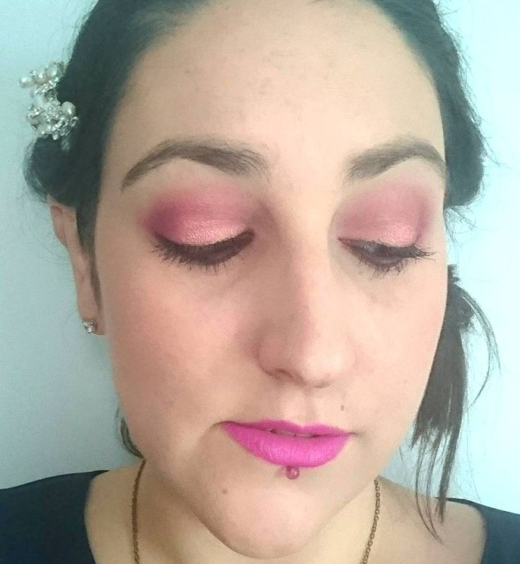 Yesterday's #makeupoftheday for my brother's wedding! I used: L'Oreal Infallible Matte Foundation Benefit Hervana Blush HD Beauty Illuminator The Bodyshop Honey Bronzer Benefit Gimme Brow BH Cosmetics Blushed Neutrals Palette (crease & outer corners) Carli Bybel/Pranava Deluxe Palette (sparkly rose gold pink on lid) Colourpop Best O Gel Liner  Estee Lauder Sumptuous Lash & Primark Lash Defining Mascaras Mac Ariana Grande II Lipstick Urban Decay All Nighter Setting Spray