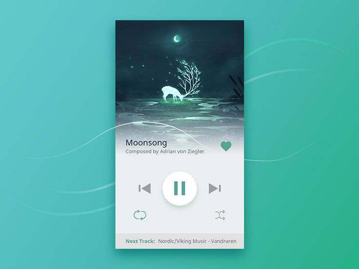 Music Player by Gabriela Borta #Design Popular #Dribbble #shots