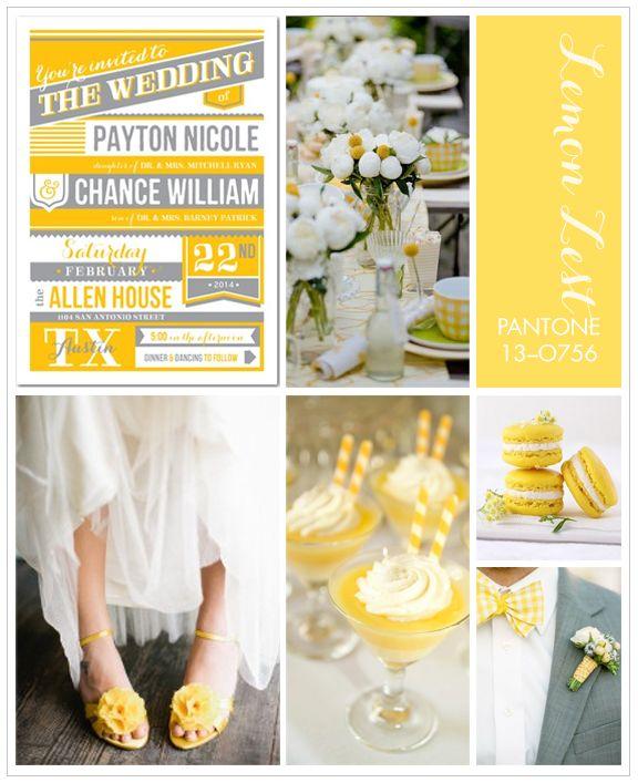 Pantone Lemon Zest for an afternoon spring wedding.
