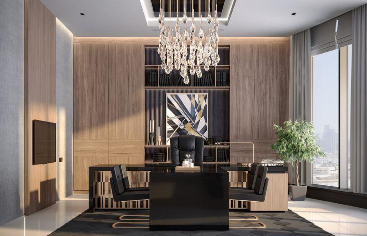 Interior Design Of Modern Luxury Ceo Office Jeddah Saudi Arabia