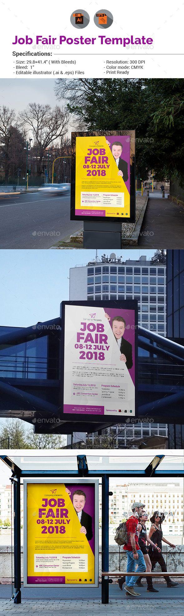 Banner design for job fair - 4 Multipurpose Flexible Poster Bundle Creative Design Signage And Print Templates