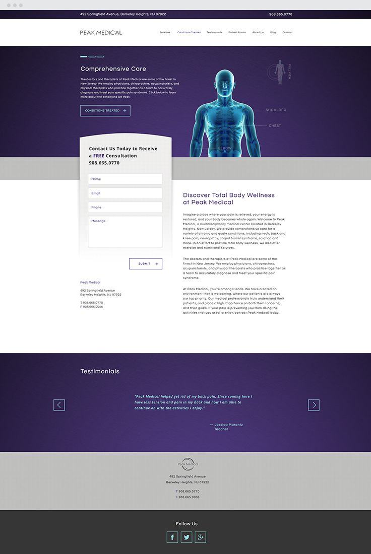 Peak Medical Responsive Web Design #epicmarketing #marketing #graphicdesign #design #responsive