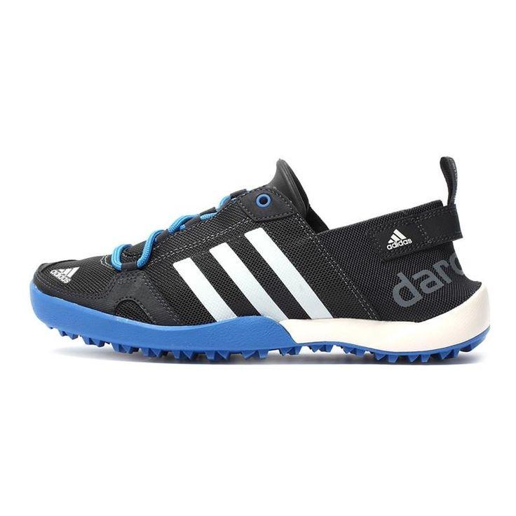 Original Adidas Men's Hiking Shoes, Outdoor Sports Shoes, Blue, Grey