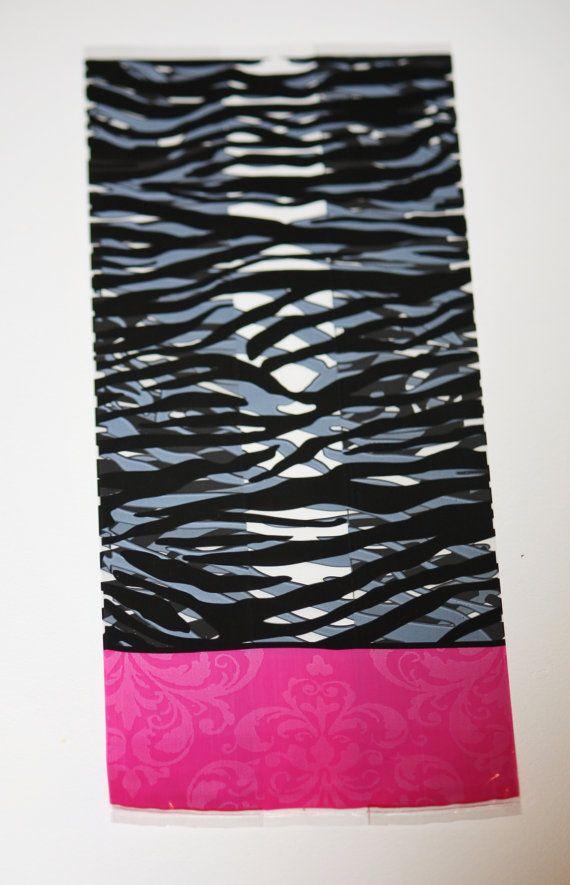 20 Zebra Print Pink Cellophane party favor bags Pink Damask Treat Bag Zebra Striped Cello Bag, Princess Birthday Party Bachelorette Diva