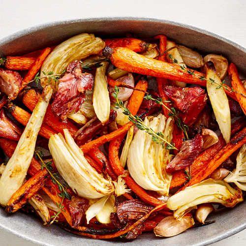 How to Make Ham-Roasted Vegetables