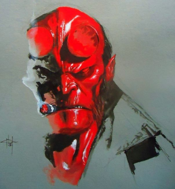 Hellboy--some really gorgeous light effects. Do not get on this guy's bad side.