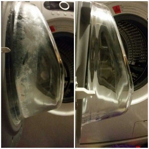 Before and after using norwex descaler and enviro cloth on washing machine. Love this stuff!