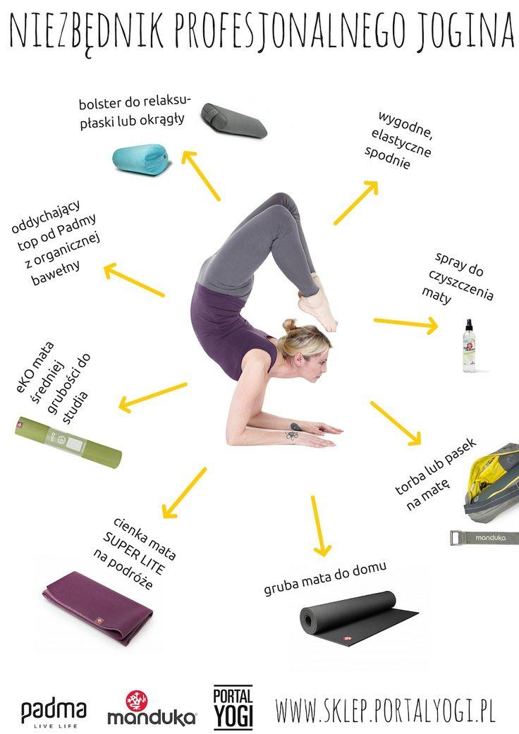 Wszystko czego potrzeba profesjonalnemu joginowi. #joga #akcesoria do jogi #manduka #padma