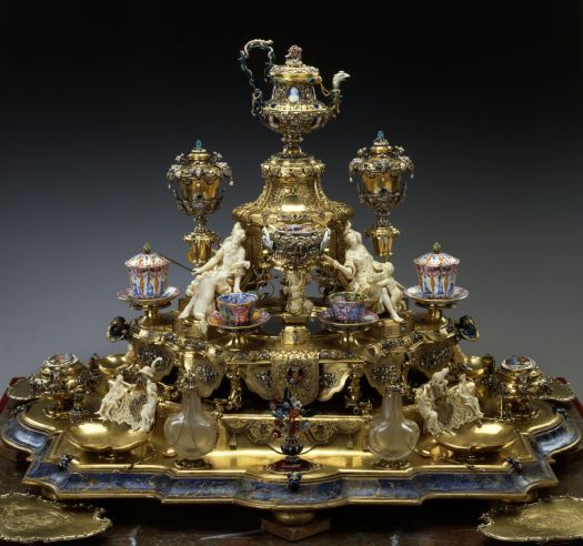 Johann Melchior Dinglinger,  the gold coffee set