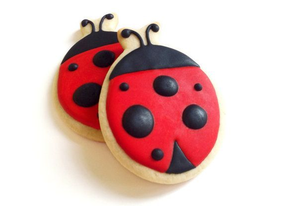 ladybug cookies on a stick | Ladybug Party Food- the sweet treats!