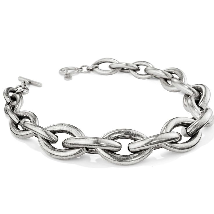 New chains; this is not your market chain. These are custom made tubular links that are soldered by hand, link by link.sterling silver-dipped brassfinish: oxidi