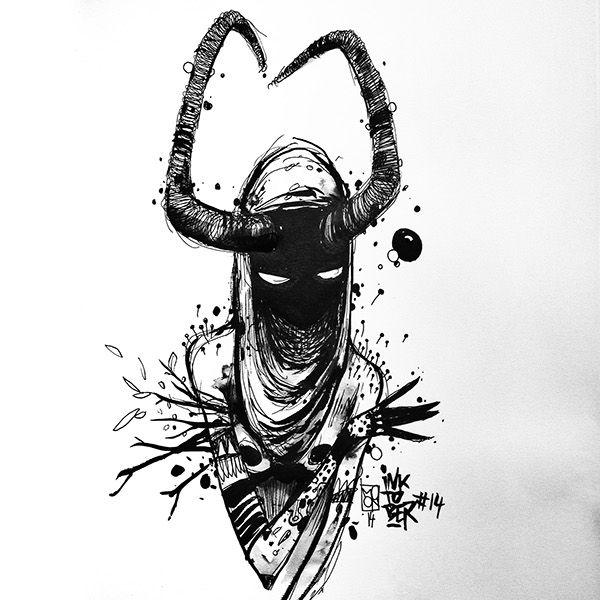 https://www.behance.net/gallery/20984965/Inktober-2014