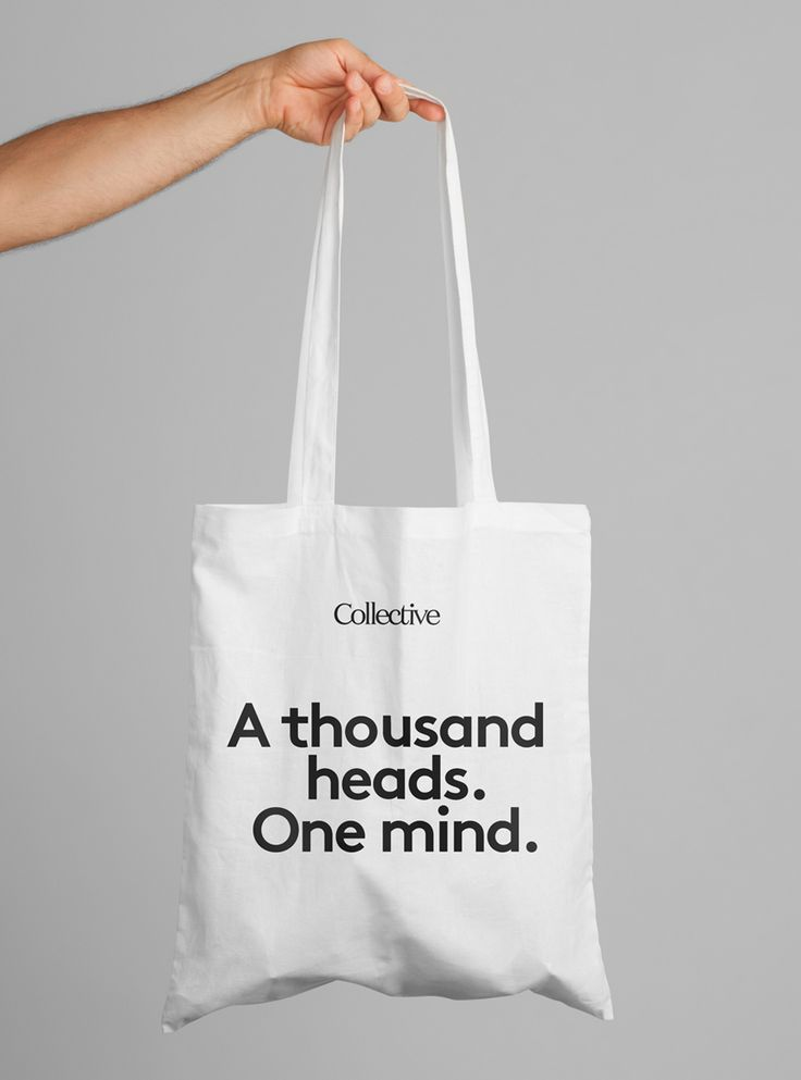 #Logotype and #Totebag #Design by Hey for content, communication and design agency Collective. Featured on bpando.org
