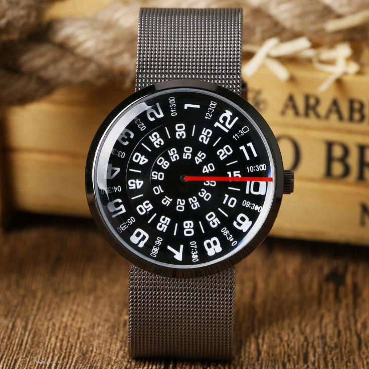Pourquoi devriez-vous choisir cette montre? Parce qu'elle est tout simplement splendide. Son cadran si unique et son bracelet en mailles d'acier semble sortir tout droit d'un film de science fiction.Caractéristiques:Diamètre de cadran: 42mmType de fermoir: BoucleMatériau du boîtier: acier inoxyda...
