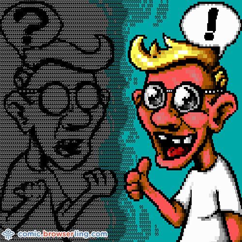 ASCII a stupid question, get a silly ANSI. #ascii #ansi #comic #question #answer #stupid #silly #ariiart #ansiart #art #browserling #joke