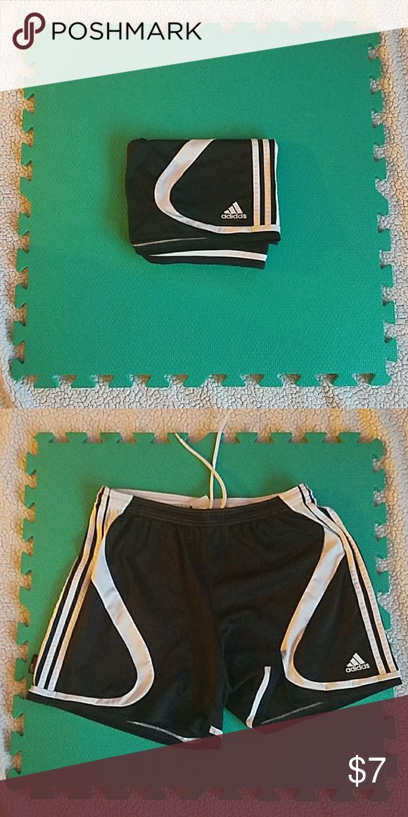 Adidas Soccer Shorts In good, used condition. These are a women's large adidas Shorts