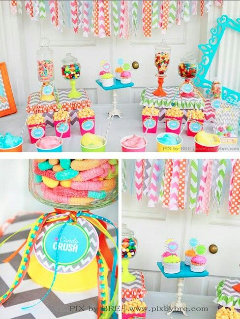 Candy Crush Party  Candy Crush Party  To see more party ideas visit: www.fireblossomcandle.com