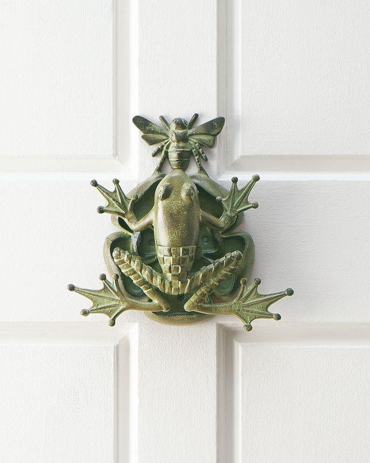 Frog & Bee Door Knocker - DARK GREEN - - Amazon.com