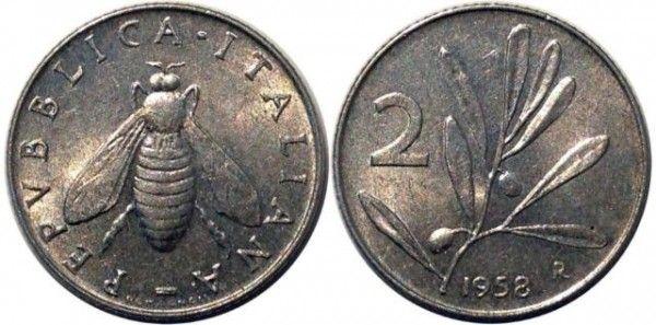 monete rare 2 lire del 1958
