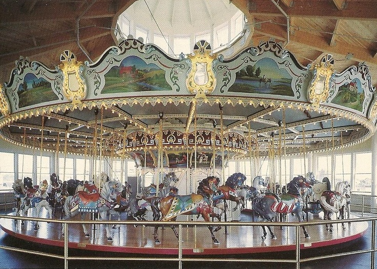 Carousel at Battleship Cove, Fall River, MA  Philadelphia Toboggan Company   #54, circa 1920