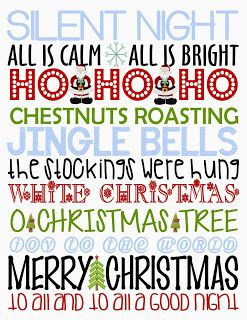 giggle and print 2 free christmas printables - Free Christmas Pictures To Print 2