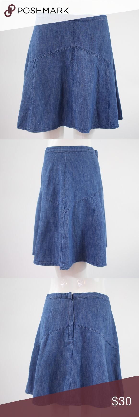 Madewell Denim Skater Skirt Size 8 Waist 30 inches  Length 17 inches Madewell Skirts Circle & Skater