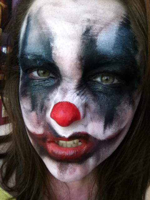 Simple Makeup - Evil Clown