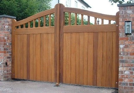 how to make joints large timber driveway gate