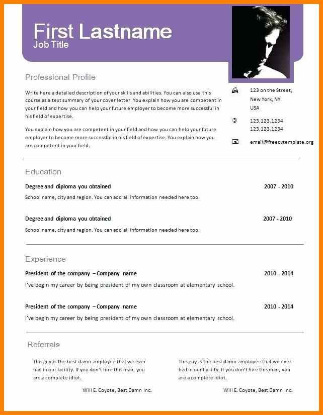 Free Resume Templates 2018 Doc Resume Examples Resume Template Examples Free Resume Template Word Job Resume Template