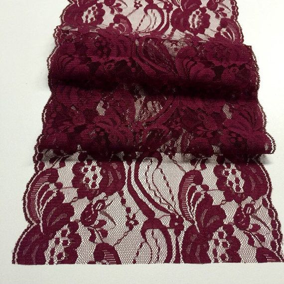 Burgundy Weddings/ Burgundy Lace Table by LovelyLaceDesigns