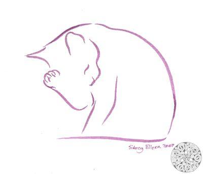 Minimalist Cat 5 by =sidneyeileen on deviantART