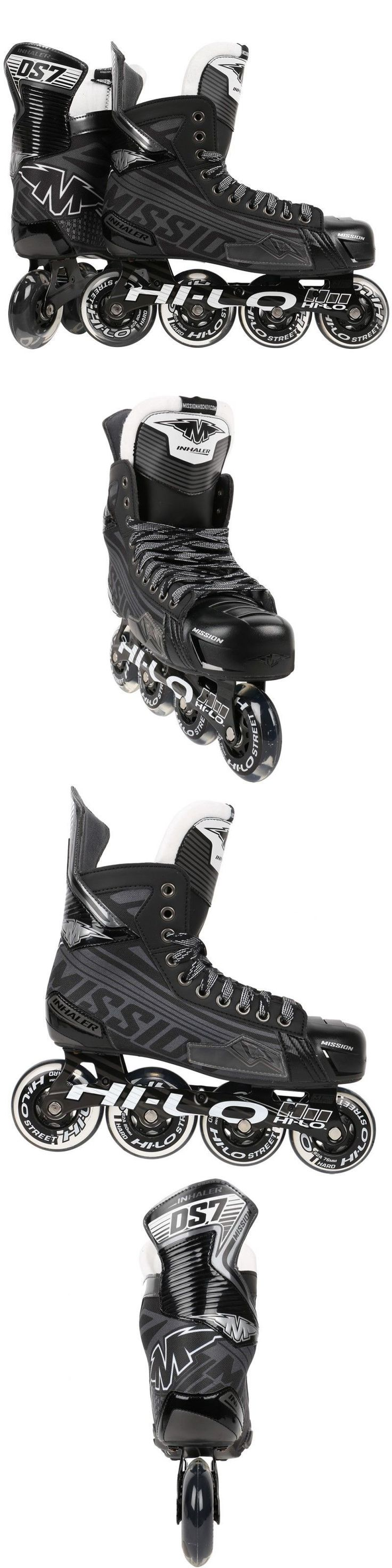 Roller Hockey 64669: Mission Inhaler Ds7 Inline Roller Hockey Skates Black Gray White -> BUY IT NOW ONLY: $150 on eBay!