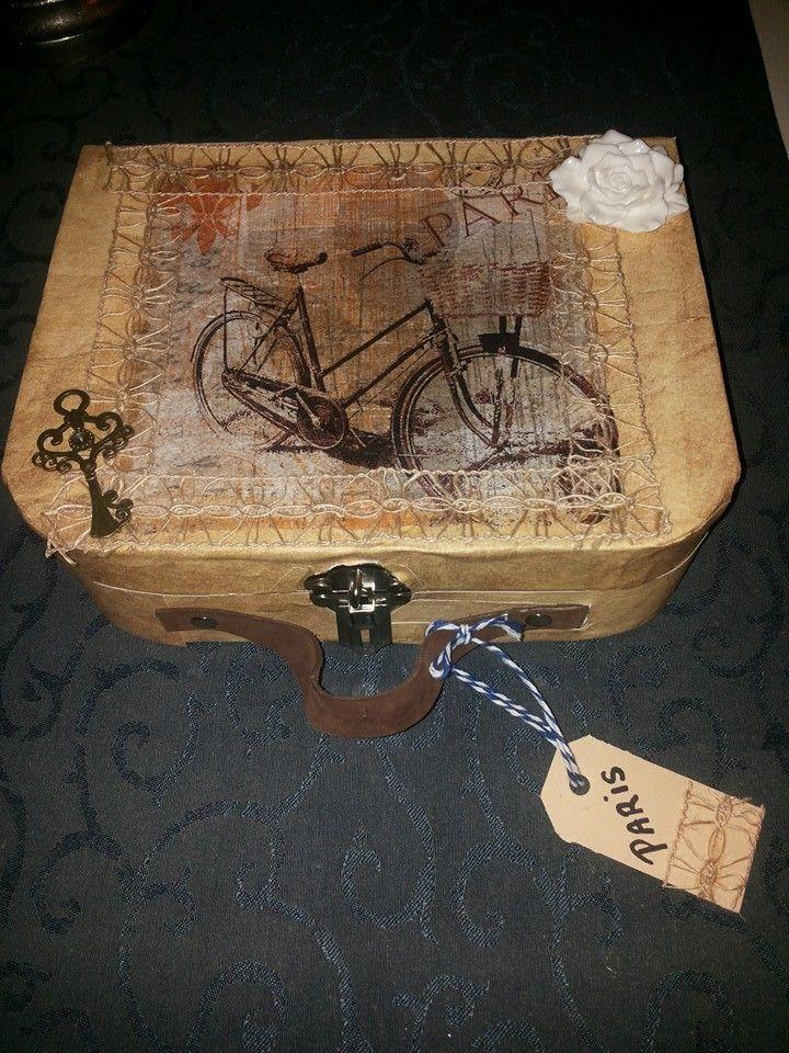 Brocante nostalgische koffer van Jolanda W