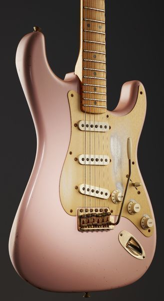 Fender 56 Relic Strat SP Namm LTD, E-Guitar, Custom Shop, Finish: Shell Pink…