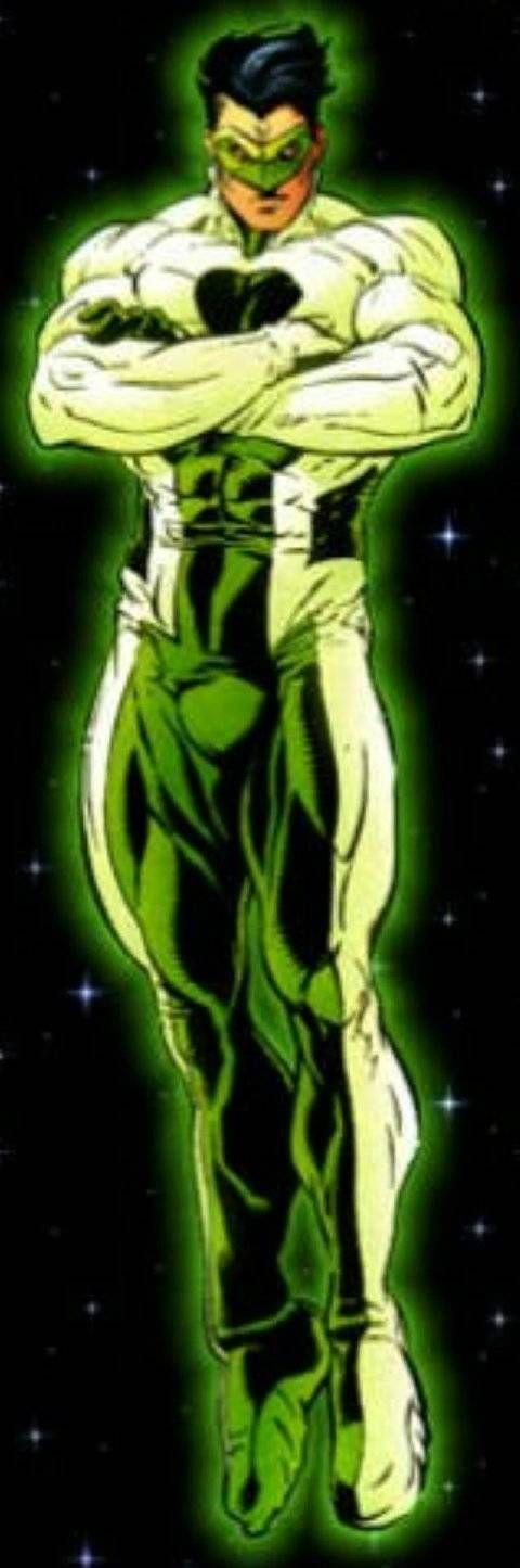 Kyle Rayner white Ion suit