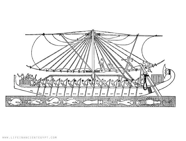 Ancient Egypt Coloring Page Boat On Nile River Ancient Egypt