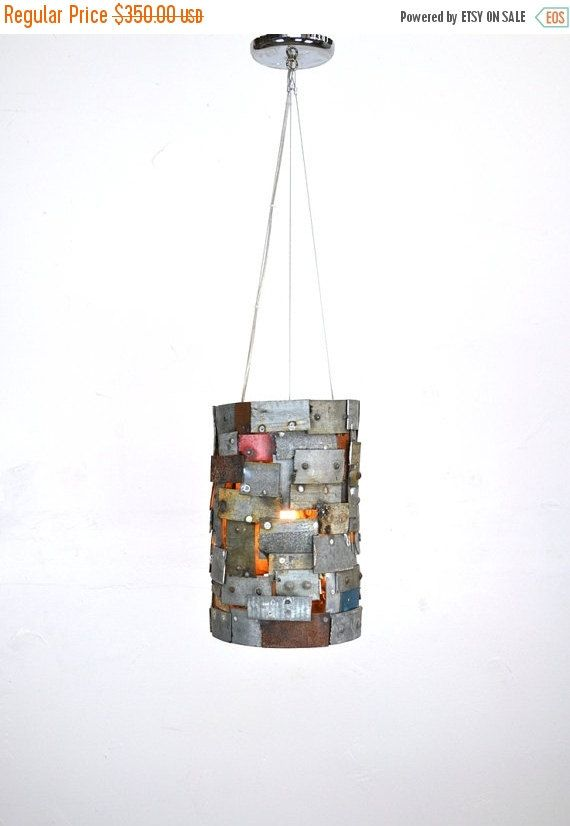 "New to winecountrycraftsman on Etsy: Lighting Sale STUDIO - ""Reliquary"" -  Wine Barrel Ring Pendant Light -100% Recycled (315.00 USD)"