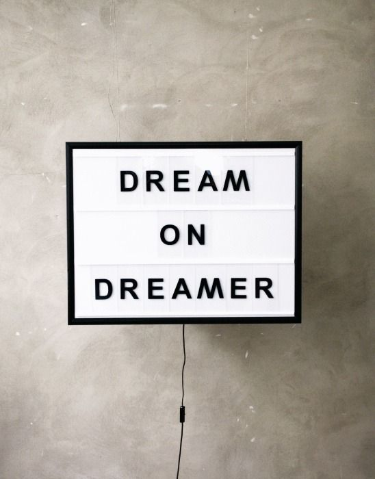 dream on, dreamer